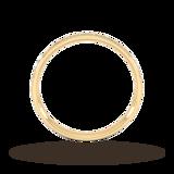 Goldsmiths 0.21 Carat Total Weight Half Channel Set Brilliant Cut Diamond Wedding Ring In 18 Carat Yellow Gold