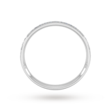 Goldsmiths 0.21 Carat Total Weight Half Channel Set Brilliant Cut Diamond Wedding Ring In Platinum