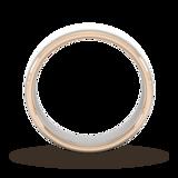 Goldsmiths 6mm Wedding Ring In 18 Carat White & Rose Gold