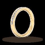 Goldsmiths 0.44 Carat Total Weight Half Channel Set Brilliant Cut Diamond Wedding Ring In 18 Carat Yellow Gold