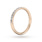Goldsmiths 0.44 Carat Total Weight Half Channel Set Brilliant Cut Diamond Wedding Ring In 18 Carat Rose Gold