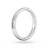 Goldsmiths 0.34 Carat Total Weight Princess Cut Channel Set Wedding Ring In 9 Carat White Gold