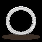 Goldsmiths 0.34 Carat Total Weight Princess Cut Channel Set Wedding Ring In Platinum