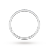Goldsmiths 0.18 Carat Total Weight Brilliant Cut Grain Set Diamond Wedding Ring In 18 Carat White Gold