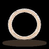 Goldsmiths 0.18 Carat Total Weight Brilliant Cut Grain Set Diamond Wedding Ring In 9 Carat Rose Gold