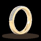 Goldsmiths 0.42 Carat Total Weight Brilliant Cut Double Row Grain Set Diamond Wedding Ring In 18 Carat Yellow Gold