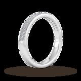 Goldsmiths 0.42 Carat Total Weight Brilliant Cut Double Row Grain Set Diamond Wedding Ring In 18 Carat White Gold