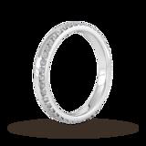 Goldsmiths 0.42 Carat Total Weight Brilliant Cut Wave Claw Set Diamond Wedding Ring In 9 Carat White Gold