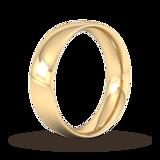 Goldsmiths 6mm Brilliant Cut Diamond Set Wedding Ring In 9 Carat Yellow Gold