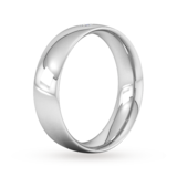 Goldsmiths 6mm Brilliant Cut Diamond Set Wedding Ring In 9 Carat White Gold
