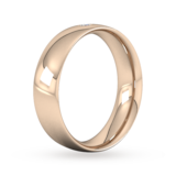 Goldsmiths 6mm Brilliant Cut Diamond Set Wedding Ring In 18 Carat Rose Gold