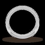 Goldsmiths 6mm Brilliant Cut Diamond Set Wedding Ring In Platinum