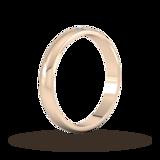 Goldsmiths 3mm 0.33 Carat Total Weight Twelve Stone Brilliant Cut Rub Over Diamond Set Wedding Ring In 9 Carat Rose Gold