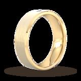 Goldsmiths 6mm Brilliant Cut Diamond Set Chamfered Edge Wedding Ring In 9 Carat Yellow Gold