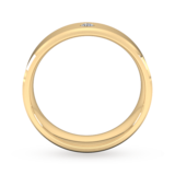 Goldsmiths 6mm Brilliant Cut Diamond Set Chamfered Edge Wedding Ring In 18 Carat Yellow Gold
