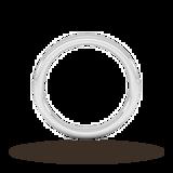 Goldsmiths 3mm Slight Court Extra Heavy Wedding Ring In 18 Carat White Gold