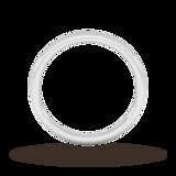 Goldsmiths 2mm Slight Court Standard Milgrain Edge Wedding Ring In 9 Carat White Gold
