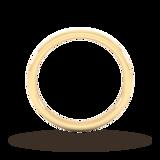 Goldsmiths 2mm Slight Court Standard Matt Centre With Grooves Wedding Ring In 9 Carat Yellow Gold