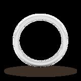 Goldsmiths 2mm Slight Court Standard Matt Centre With Grooves Wedding Ring In 950 Palladium