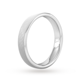 Goldsmiths 4mm Slight Court Standard Diagonal Matt Finish Wedding Ring In 950 Palladium