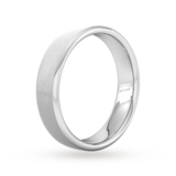 Goldsmiths 5mm Slight Court Standard Matt Finished Wedding Ring In 9 Carat White Gold