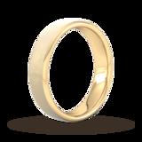 Goldsmiths 5mm Slight Court Standard Matt Finished Wedding Ring In 18 Carat Yellow Gold