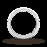Goldsmiths 4mm Slight Court Heavy Matt Centre With Grooves Wedding Ring In 18 Carat White Gold