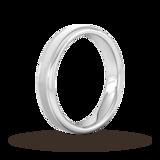 Goldsmiths 4mm Slight Court Heavy Matt Centre With Grooves Wedding Ring In Platinum