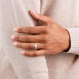 Goldsmiths 5mm Slight Court Heavy Wedding Ring In 9 Carat White Gold