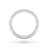 Goldsmiths 5mm Slight Court Heavy Wedding Ring In 18 Carat White Gold
