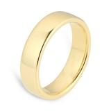 Goldsmiths 5mm Slight Court Heavy Wedding Ring In 18 Carat Yellow Gold
