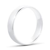 Goldsmiths 5mm Slight Court Heavy Wedding Ring In Platinum