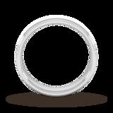 Goldsmiths 5mm Slight Court Heavy Matt Centre With Grooves Wedding Ring In 9 Carat White Gold