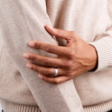 Goldsmiths 6mm Slight Court Heavy Wedding Ring In 18 Carat White Gold