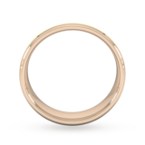 Goldsmiths 6mm Slight Court Heavy Polished Chamfered Edges With Matt Centre Wedding Ring In 9 Carat Rose Gold