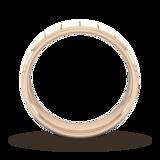 Goldsmiths 6mm Slight Court Heavy Vertical Lines Wedding Ring In 18 Carat Rose Gold