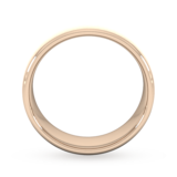 Goldsmiths 6mm Slight Court Heavy Diagonal Matt Finish Wedding Ring In 18 Carat Rose Gold