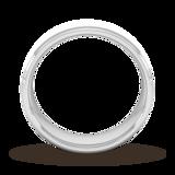 Goldsmiths 7mm Slight Court Heavy Matt Centre With Grooves Wedding Ring In 9 Carat White Gold