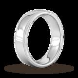 Goldsmiths 6mm Slight Court Standard Milgrain Edge Wedding Ring In 9 Carat White Gold