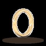 Goldsmiths 3mm Slight Court Heavy Wedding Ring In 9 Carat Yellow Gold