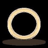 Goldsmiths 3mm Slight Court Heavy Milgrain Edge Wedding Ring In 9 Carat Yellow Gold