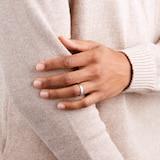 Goldsmiths 4mm Slight Court Heavy Wedding Ring In 9 Carat White Gold