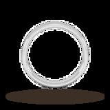 Goldsmiths 4mm Slight Court Heavy Wedding Ring In 18 Carat White Gold