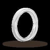 Goldsmiths 3mm D Shape Standard Matt Finished Wedding Ring In 950 Palladium