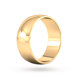 Goldsmiths 8mm D Shape Standard Wedding Ring In 9 Carat Yellow Gold