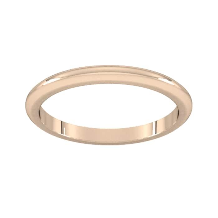Goldsmiths 2mm D Shape Heavy Wedding Ring In 9 Carat Rose Gold - Ring Size J