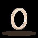 Goldsmiths 2mm D Shape Heavy Wedding Ring In 9 Carat Rose Gold