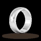 Goldsmiths 6mm D Shape Heavy Wedding Ring In Sterling Silver