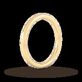 Goldsmiths 2mm Traditional Court Standard Milgrain Edge Wedding Ring In 9 Carat Yellow Gold