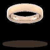 Goldsmiths 4mm Traditional Court Standard Diagonal Matt Finish Wedding Ring In 9 Carat Rose Gold - Ring Size S
